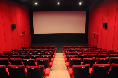 Cinema from top pressed